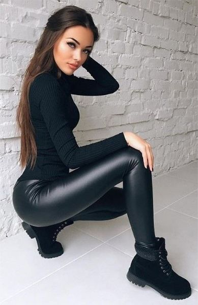Lyra Leatherette Wet Look Leggings